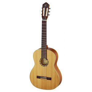 Ortega R131L Guitare de concert gaucher avec housse Corps Acajou Table cèdre massif