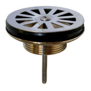 Wirquin Bonde évier Ø60 mm à grille plate en laiton Pro 30720411