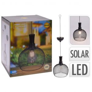 Progarden Lampe suspendue solaire à LED Métal 18,5 cm