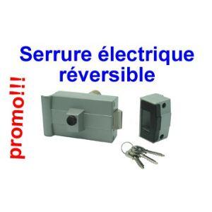 Avidsen 102255 - Serrure électrique réversible avec bouton poussoir