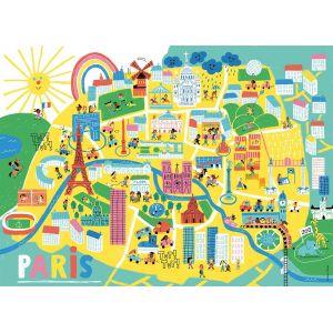 Nathan Plan de Paris - Puzzle 60 pièces