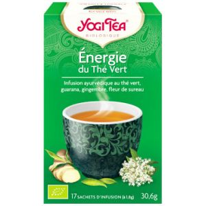 Yogi Tea Energie - Infusion ayurvédique au thé vert, 17 sachets