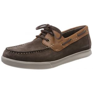 Geox U Walee D Chaussures Bateau Homme, Marron (DK Chocolate) 41 EU