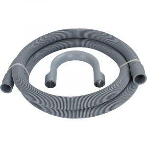 Somatherm Flexible d'Evacuation - Tuyau de Vidange de Machine à laver - 2M - Crosse Amovible