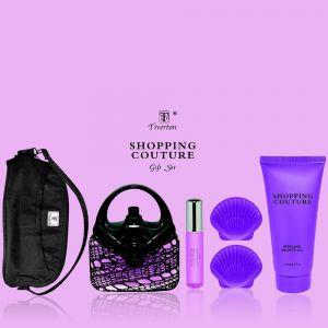 Tiverton Coffret Shopping Couture pour femme : 2 eaux de parfum, gel douche, savon et trousse