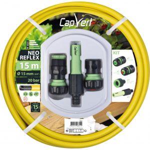 Cap Vert Batterie tuyau d'arrosage Néo Reflex Diamètre (mm) x L. (m) 15 x 15