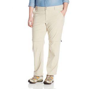 Columbia Femme Pantalon de Randonnée 2 en 1, Saturday Trail II Convertible Pants, Nylon, Kaki (Fossil), Taille: 6, AK8120