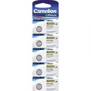 Camelion Lot de 5 Pile bouton Lithium CR1216 / LD1216