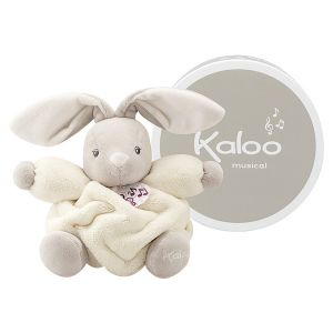 Kaloo Plume petit lapin musical crème 18 cm