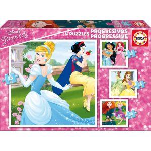 Educa 4 puzzles Disney Princesses (12 à 25 pièces)