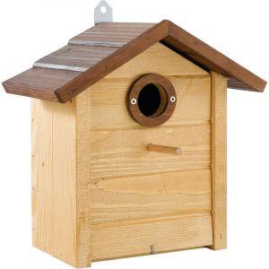 Ferplast NEST 6 Nid d'extérieur pour oiseaux sauvages en bois écologique. Variante NEST 6 - Mesures: 26 x 15,8 x h 27,4 cm -