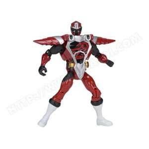 Bandai Figurine Power Rangers : Armure Ninja Steel 12 cm : Rouge