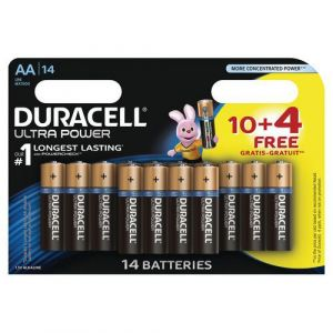 Duracell Pack de 10 + 4 Piles Ultra Power AA (LR06)