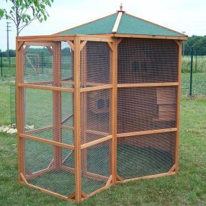 Habrita PO H23 - Volière grande taille 4.5 m² avec sas pour 6-10 oiseaux