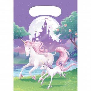 8 sacs cadeaux Licorne magique 22 x 16 cm