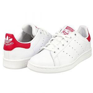 Adidas Stan Smith, Sneakers Basses Fille, Blanc (FTWR White/FTWR White/Bold Pink), 38 EU (UK Child 5 Enfant UK)