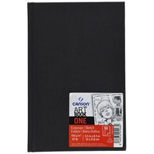 Canson Art Book One Carnet avec tranchefile Papier à dessin 98 feuilles 100g/m2 14 x 21,6 cm Blanc