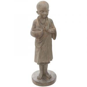 """Atmosphera Statuette Déco """"Bouddha Debout"""" 61cm Naturel"""