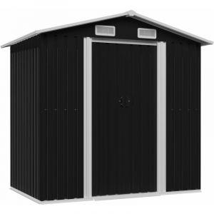 VidaXL Abri de stockage pour jardin Anthracite Acier 204x132x186 cm