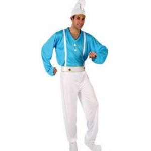 Atosa Déguisement homme nain bleu (taille XL)