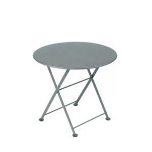 Fermob Table jardin ronde en acier gris orage 55cm TOM POUCE