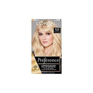 L'Oréal Preference Infinia 9.13 Bergen Light Beige Blonde Hair Dye