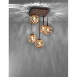 Paul neuhaus Plafonnier LED, Ampoule halogène G9 EEC: selon lampoule (A++ - E) 200 W GRETA 6234-48 rouille, or