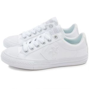 Converse Star Player Enfant Cuir Blanche