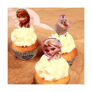 Stor 24 décors pour cupcakes La Reine des Neiges