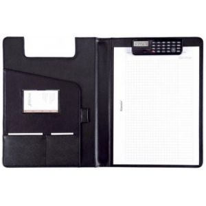 Alassio 31500 - Serviette Brescia, format A4, simili-cuir noir