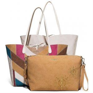 Desigual Shopper Women Brown/Multicolor