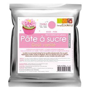Scrapcooking Pâte à sucre rose goût vanillé (250g)
