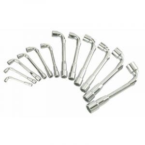 Sam Outillage Jeu 12 clés à pipe débouchées 7 à 24 mm 6x6 pans _ 94-SDJ12Z,