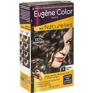 Eugène Color Crème colorante permanente, nutriprotectrice, 3 châtain clair