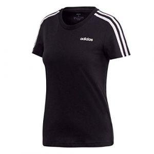 Adidas Tshirt E 3 Stripes Slim Originals Noir / Blanc - Taille L