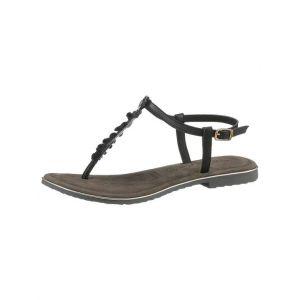 Tamaris : sandales à brides >Minu« Noir