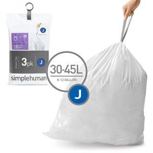 Simplehuman Sacs poubelle Pocket Liners 30 L Code J
