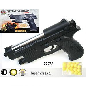 B&G International Red line Series 50606-Pistolet à billes 6mm- 0.5 Joule -Couleur noir