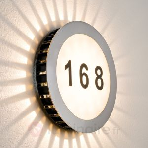 Paulmann Numéro de maison lumineux LED Sun IP44