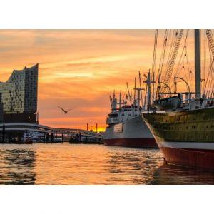 Grafika Deutschland Edition - Hamburger Hafen mit Elbhilharmonie