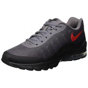 Nike Air Max Invigor Print, Sneakers Basses Homme, Multicolore (Gunsmoke/University Red/Black 001), 42.5 EU