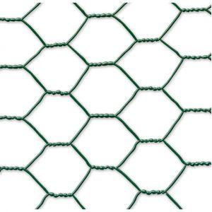 Nortene Maille hexagonale triple torsion Galvanex, 4,1 cm, coloris vert, 1000 X 50 cm