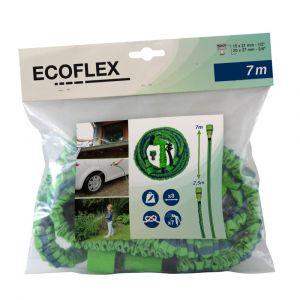 Kit complet avec tuyau extensible rÉtractable ecoflex7 vert et bleu 2m50-7m50