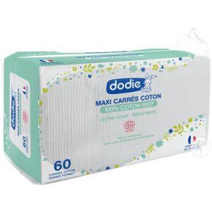 Dodie Maxi Carrés Coton Bio Untra-Doux 60 Pièces