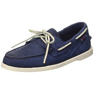Sebago Docksides, Chaussures Bateau Homme - Bleu (Navy Nubuck), 40 EU