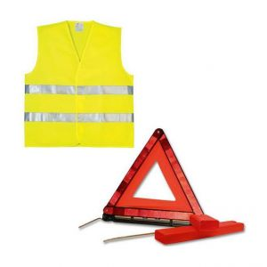 Ring Kit Triangle de sécurité et Gilet Jaune XL - Norme CE