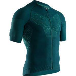 X-Bionic Twyce G2 Maillot de cyclisme Manches courtes Zip Homme, pine green/amazonas green S Maillots manches courtes sport