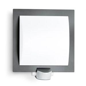 Steinel Luminaire extérieur L 20 anthracite - applique à détecteur de mouvement 180° - habillage inox - puissance 60 W max.