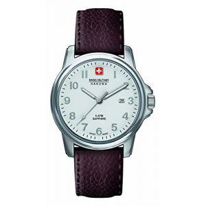 Swiss Military Hanowa 6-4231.04.001 - Montre pour homme avec bracelet en cuir
