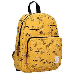 Kidzroom Sac à dos enfant Animal Academy paresseux large jaune